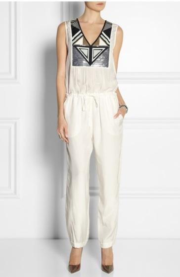 SASS & BIDE Combi-pantalon en voile à ornements The Telegram