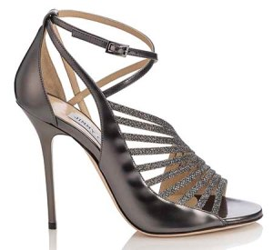 FABRIS- GLITTER PATENT SUEDE W HOTFIX- ANTHRACITE ANTHRACITE