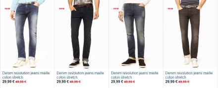 pantalon denim revolution celio