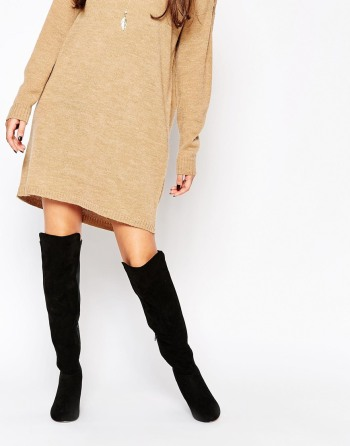 ASOS - KNIGHTLY - Cuissardes à talons plats