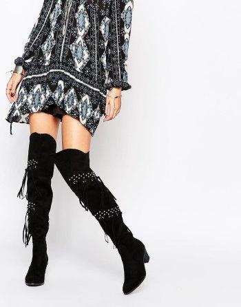 Glamorous - Cuissardes frangées et cloutées - Noir