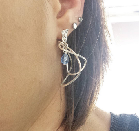 Boucles d'oreilles Cecile et Jeanne